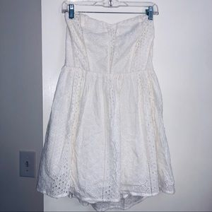 White Eyelet Kimchi Blue Strapeless Dress